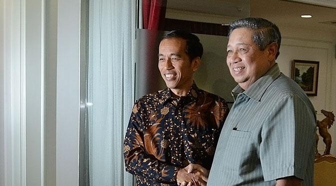 Presiden terpilih Joko Widodo bersama Presiden Susilo Bambang Yudhoyono bersilaturahim di Istana Negara (Foto: Liputan 6).